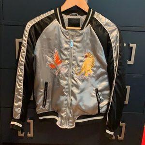 Japanese satin bomber jacket